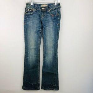 MEK Portland Bootcut Jeans 25 X 34 Flap Pockets